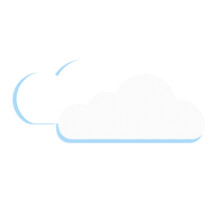 Weather Icon Clouds In The Style Of Glass Morphism