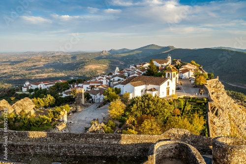 Obraz Charming town of Marvao seen from medieval castle, Portugal - fototapety do salonu