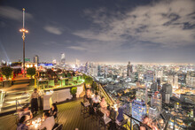 Skyview In Thailand Full Of People