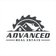 Retro Vintage, Carpenter Roofing Real Estate Logo Design,vector Illustration.