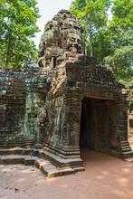 Gate At The Ancient Ruins Of Angkor Wat