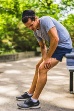 Athletic Man With Muscle Pain