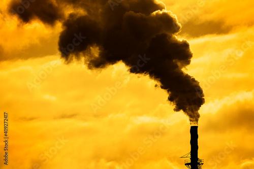 Foto Pollution From Factory Smoke Smokestack Chimney Environment