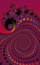 Bright Motley Pattern Similar To A Peacock's Tail. Ethnic Pattern. Fractal Drawing