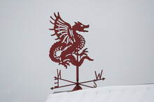 Weather Vane In The Form Of A Mythical Dragon Indicating The Cardinal Points And Wind Direction