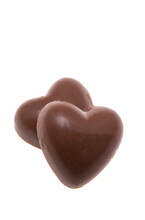 Candy Chocolate Hearts Isolated