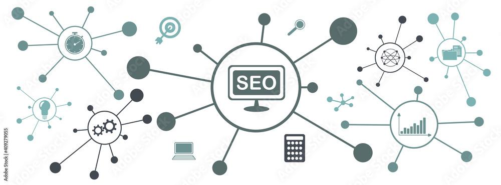 Fototapeta Concept of search engine optimization