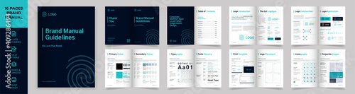 Brand Manual Template, Simple style and modern layout Brand Style , Brand Book, Fototapet