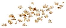 Falling Popcorn Isolated On White Background