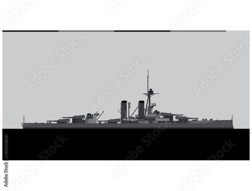 Valokuvatapetti HMS IRON DUKE 1914