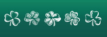 Patrick's Day. Clover Set. Vector Illustration. Hand Drawn Style.