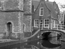 Die Stadt Delft In Holland