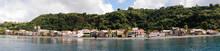 Panoramic View Of Picturesque Village Saint Pierre , Martinique Island.