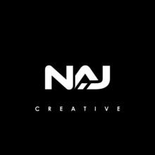 NAJ Letter Initial Logo Design Template Vector Illustration