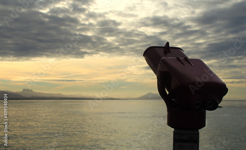 Fototapety, obrazy: Océano atlántico al atardecer