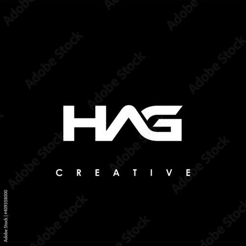 Fotografia, Obraz HAG Letter Initial Logo Design Template Vector Illustration