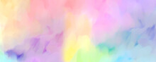 Abstract Colorful Rainbow Watercolor Background Texture