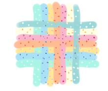 Computer Drawn Colorful Stripes And Polka Dots