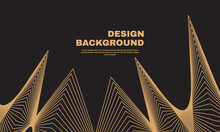 Stock Illustration Awesome Abstract Background Golden Line Wave Luxury Style Vector Illustration Part 3