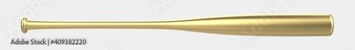 Fotografie, Obraz Baseball bat isolated on background. 3d rendering - illustration