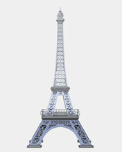 Eiffel Tower Isolated On Background. 3d Rendering - Illustration