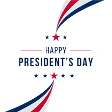 Happy Presidents Day Concept With Simple Flag Isolated Background Design