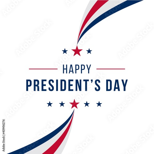 Fotografie, Obraz Happy presidents day concept with simple flag isolated background design