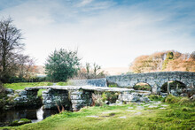 The Ancient 'Clapper Bridge' At Packbridge, Dartmoor