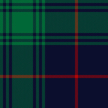 Plaid Pattern Christmas In Red, Green, Navy Blue. Herringbone Textured Seamless Dark Winter Tartan Check Plaid For Flannel Shirt, Blanket, Duvet Cover, Tablecloth, Other Classic Textile Print.