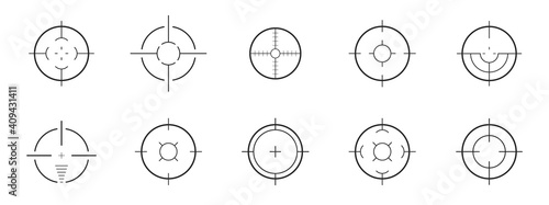 Fotografie, Obraz Set of target and aim, targeting and aiming