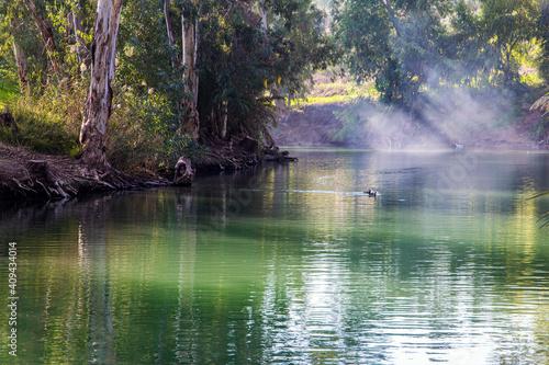 Fototapeta Jesus Christ was baptized in the Jordan River