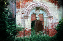 The Destroyed Church Of The Smolensk Icon Of The Mother Of God In Rzhev. Tver Region.