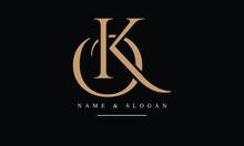 OK, KO, O, K Abstract Letters Logo Monogram