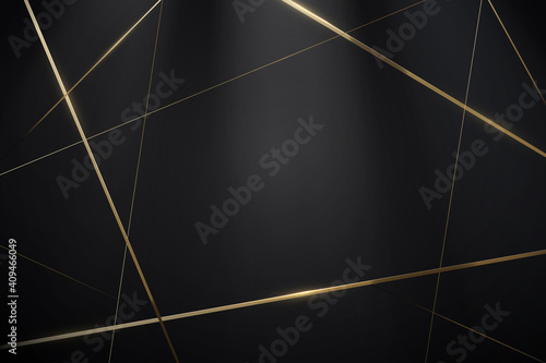 Abstract Black and gold lines with a luxury background. Vector illustration - fototapety na wymiar