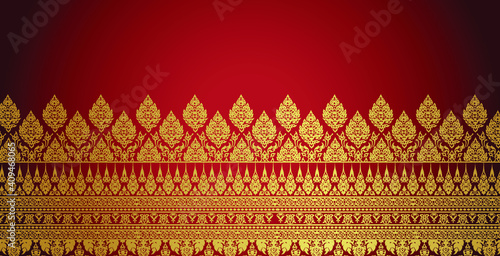 Foto modern line Thai pattern traditional concept The Arts of Thailand