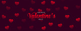 happy valentines day celebration card with hearts patterns