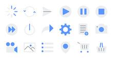 Flat Essential UI Icon Set.