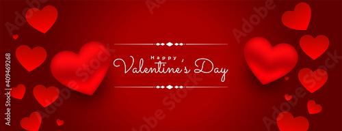 Obraz na plátně 3d valentines day red hearts background design