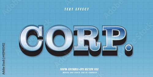 Photo corp text effect design vector