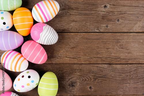 Stampa su Tela Colorful Easter Egg side border