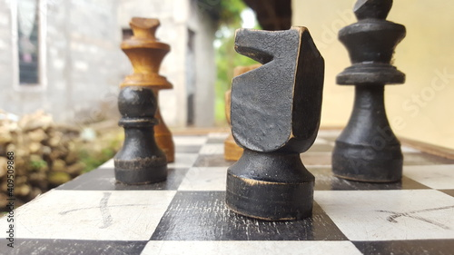 Canvas chess game pieces