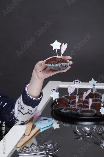 Fototapeta Przyjęcie urodzinowe dziecka muffiny