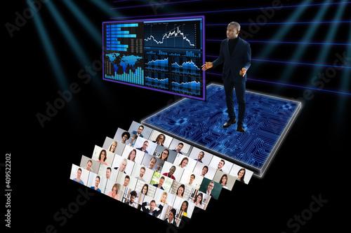 Foto Virtual Video Conference Webinar Call