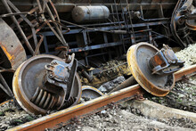 Site Of A Train Derailed Accident