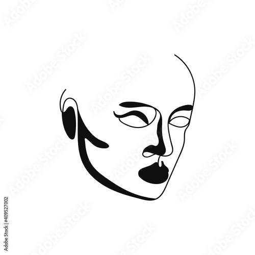 Fotografia Beautiful portrait continuous silhouette art