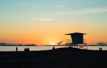 Belmont Shore Beach Sunset View