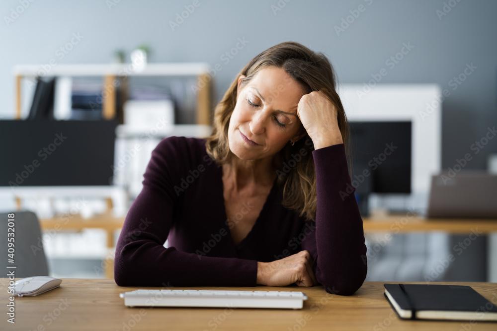 Fototapeta Casual Woman With Headache