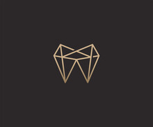 Abstract Luxury Teeth Logo Design Template
