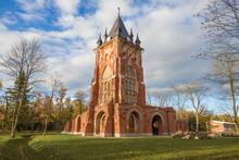 The Old Chapelle Pavilion In Alexander Park After Restoration On A Sunny October Day. Tsarskoe Selo, Saint Petersburg