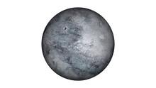 Fictional Eris Planet Isolate On White.